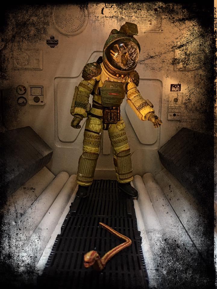 alien neca nostromo diorama