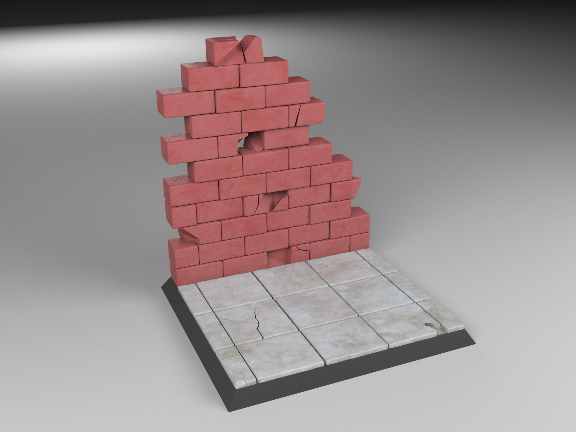 1/6 scale Street Stand with Wall