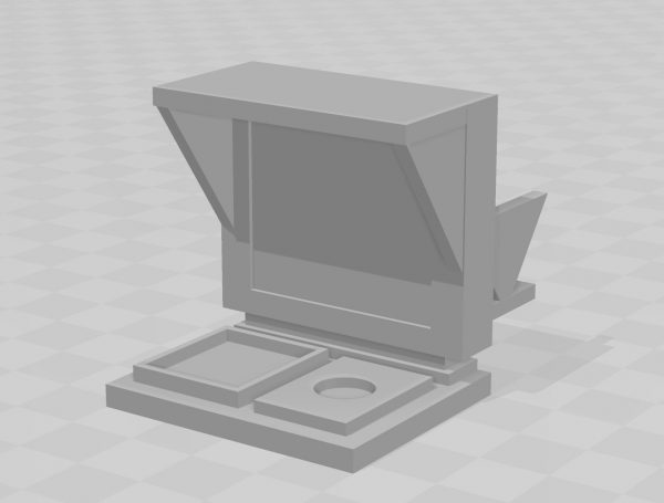 BTTF Computer 80 cafe style 1/6 scale 3D printable file